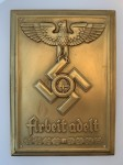 R.A.D. Labour Corps  Wall Plaque in Brass SPECIAL OFFER