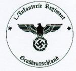 1st Battalion Infantry Regiment Grossdeutschland military rubber hand stamp