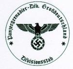 Panzer Division Grossdeutschland -  Divisional Staff military rubber hand stamp