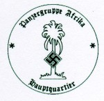 Panzer Group Afrika Headquarters military rubber hand stamp.