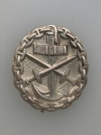 Imperial German WWI Naval  Wound Badge in Silver