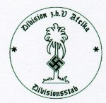 Sonderverband Afrika Divisional Staff military rubber hand stamp.