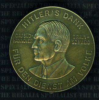 Hitlers Dank badge Bronze