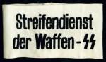 Streifendienst Der Waffen SS embroidered armband