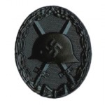 1939 WWII Wound Badge in Black