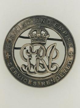 British WW1 Services Rendered  or Silver War Badge.