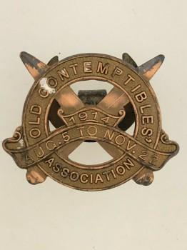 WW1 'OLD CONTEMPTIBLES BRONZE LAPEL PIN