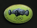 German 1935 Olympic Sponsors motor race series enamel badge for Stewards