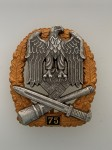 Army or Heer  General Assault Badge for 75 Engagements.