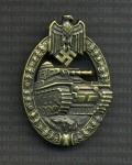 Army Panzer Assault Badge in Bronze RE-ENACTOR REPRODUCTION.