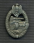 Army Panzer Assault Badge in Silver RE-ENACTOR REPRODUCTION.