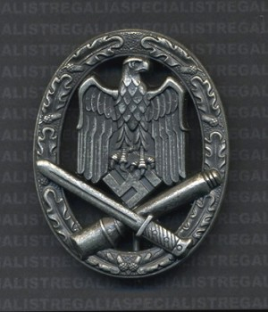 Army General Assault Badge RE-ENACTOR REPRODUCTION.