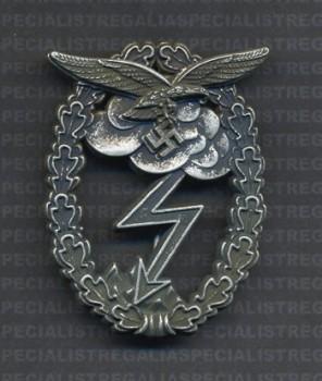 Luftwaffe Ground Assault badge. Antiqued. RE-ENACTOR REPRODUCTION.