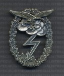 Luftwaffe Ground Assault badge. Antiqued. RE-ENACTOR REPRODUCTION.