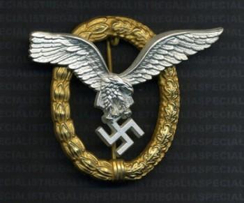 Luftwaffe Pilot Observers Badge RE-ENACTOR REPRODUCTION.