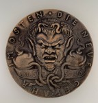 German Goetz satirical medallion 'Bolshiwismus- Die Neu Gefahr im Osten'.