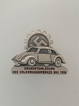 Volkswagen badge in silver