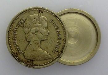 British £1  SPY COIN.