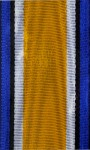 Medal ribbon for British WWI War Medal .  32mm wide.