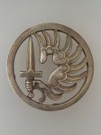 French Paratrooper solid silver Beret Badge- Early issue.