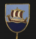 Kriegsmarine U83 U Boat or Submarine crewmans enamel lapel badge