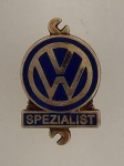 Volkswagen V.W. Spezialist Mechanics lapel badge..