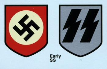 Waffen S.S. Helmet Decals early pattern
