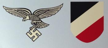 Luftwaffe  Helmet Decals. Early pattern.