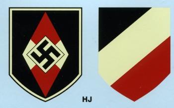 Hitler Youth  Helmet Decals.