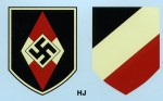Hitler Youth  Helmet Decals.