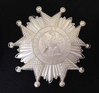 French Legion of Honour- 2nd Empire  Grand Cross or Grand Officer breast star in Silver.