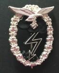 Luftwaffe Ground Assault Badge. Silver finish. Re-enactor quality.
