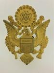 GENUINE WWII U.S. Army officers metal cap badge.