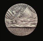 WW1 Goetz GERMAN ISSUE Lusitania medal GREY METAL.