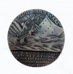 WW1 Goetz GERMAN ISSUE Lusitania medal GREY METAL.