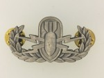 U.S. Army SENIOR Army Bomb Disposal metal badge. Full size.