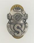 U.S. Army Salvage Diver metal badge. Full size.