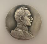 Imperial German WWI Kaiser Wilhelm II patriotic silvered medallion 60mm.
