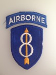American U.S. Army 8th Airborne Division sleeve patch