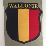WALLONIE Belgian Foreign Volunteers in the Wehrmacht cloth sleeve shield.