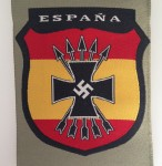 Spanish Blue Division cloth sleeve shield.