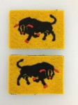 British 11th Armoured Division cloth sleeve patch.MATCHED PAIR