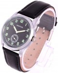 WW2 German Army Service Watch or Dienstuhr replica military watch.  Black Strap.