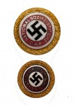 Golden Party Badge of the N.S.D.A.P- matched pair. SUPERIOR QUALITY