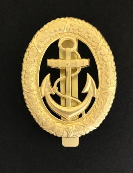 Vintage WWII German Kriegsmarine Navy Officer of the Watch Metal Badge with slider fittings