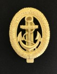 Vintage WWII German Kriegsmarine Navy Officer of the Watch Metal Badge with slider fittings