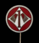 Luftwaffe Jagdegeschwader JG1 enamel lapel badge.