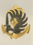 French Marine Paratrooper metal beret badge.