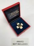 Presentation case for the Social Welfare Decoration 3rd class ribbon cross.