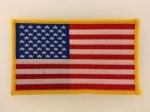 United States of America U.S. Stars & Stripes flag cloth sleeve patch badge.